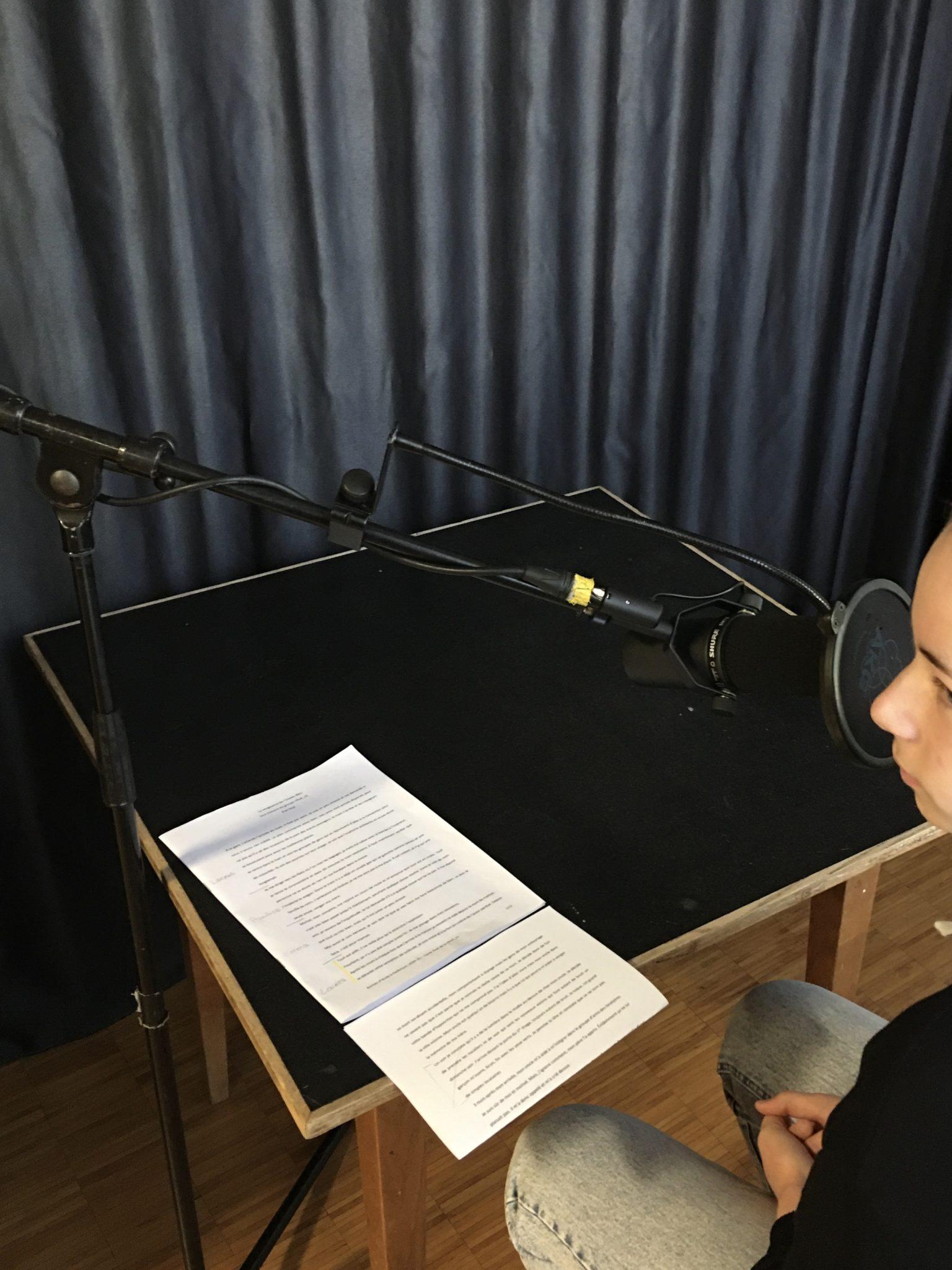 Enregistrement podcast Delemont